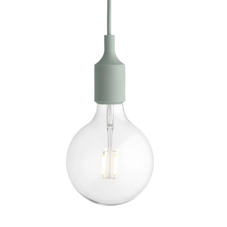 E27 vert de gris Suspension avec ampoule LED Ø12,5cm
