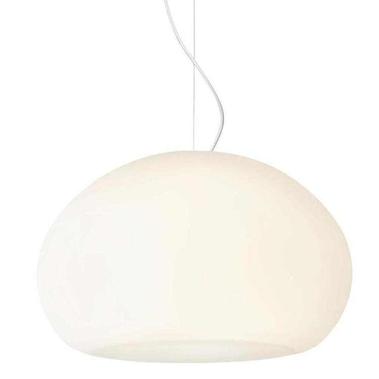 FLUID Blanc Suspension Verre Ø42cm