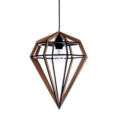 RAW LAMP Marron Suspension MDF/Métal H45cm
