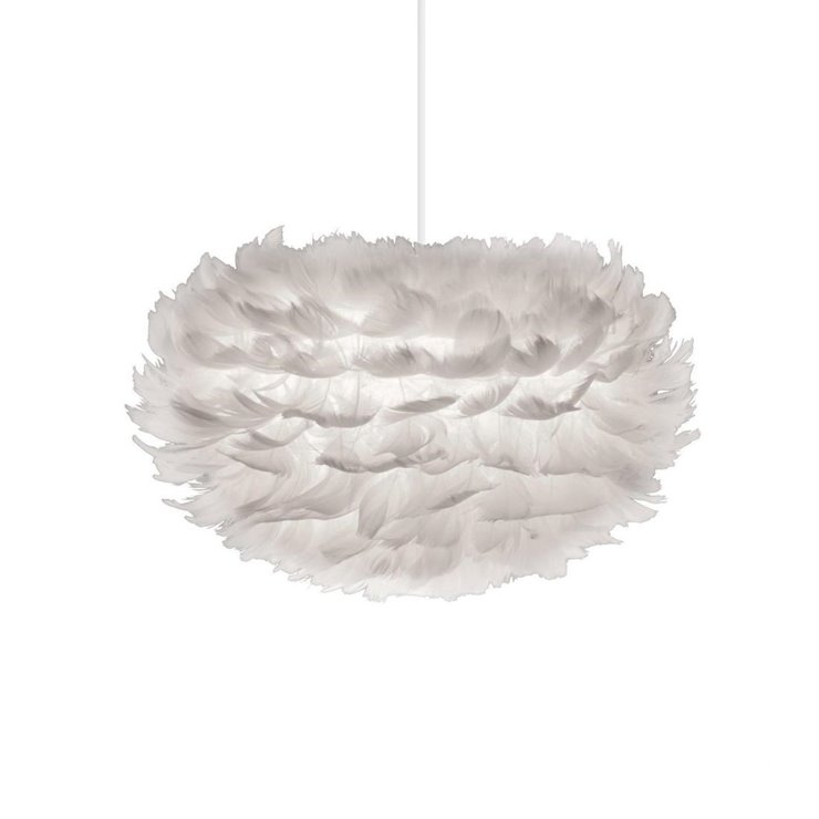 EOS MINI Blanc Suspension Plume Ø35cm + Câble Blanc 2,1m
