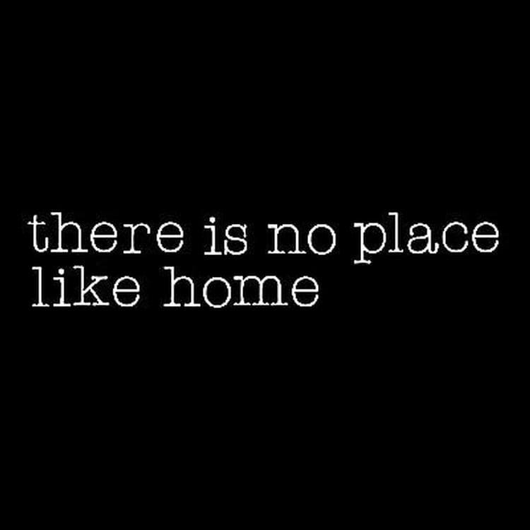 NEON ART Blanc Néon 'THERE IS NO PLACE LIKE HOME' L220cm