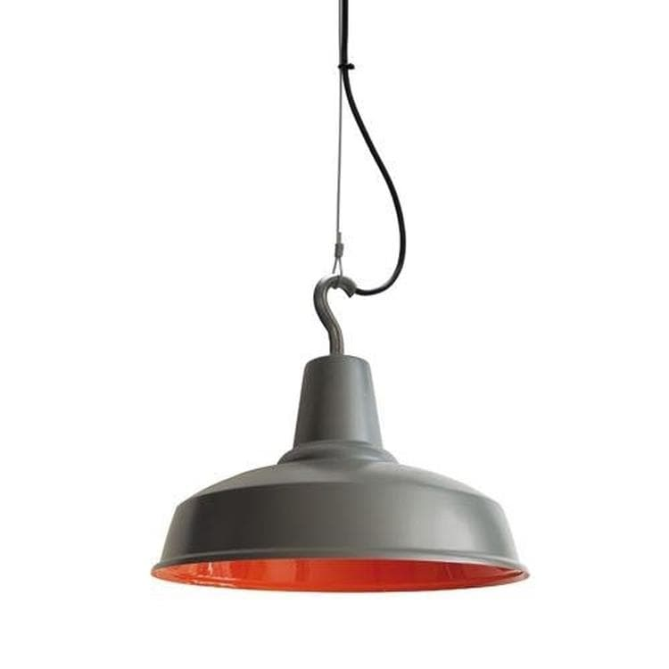 HOOK gris graphite orange Suspension d'extérieur Ø36cm