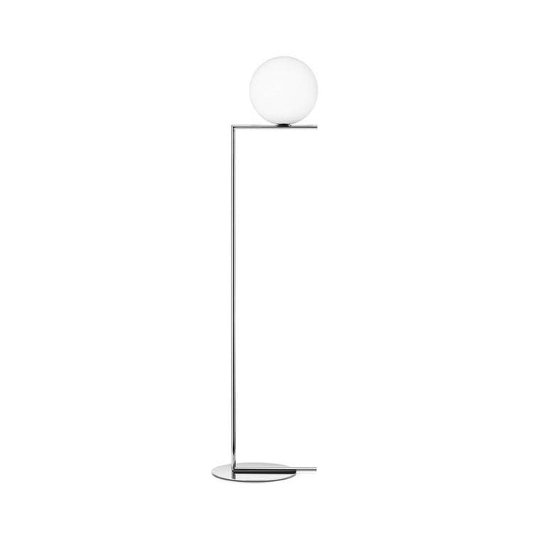 IC F1 Chrome Lampadaire Verre H135cm