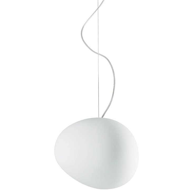 GREGG MEDIA Blanc Suspension Métal & Verre Soufflé Ø31cm