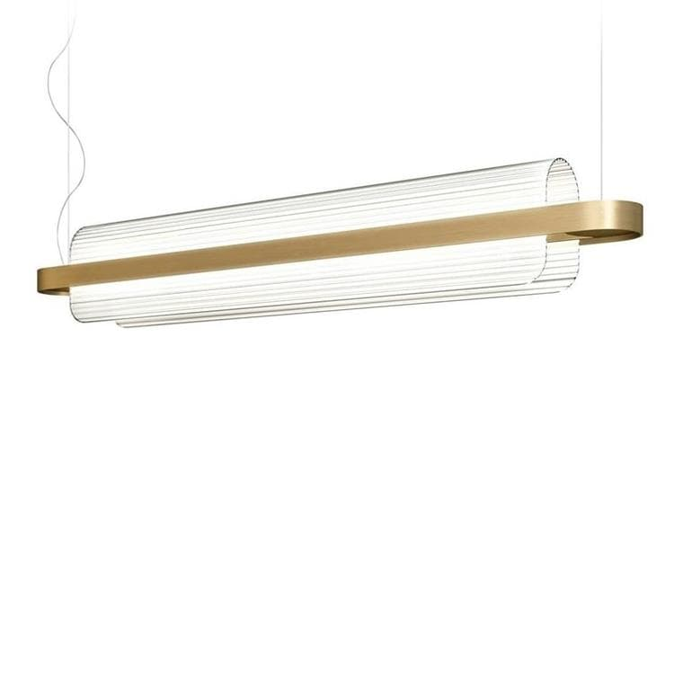 NAMI laiton doré satiné Suspension LED Verre/Métal L150cm