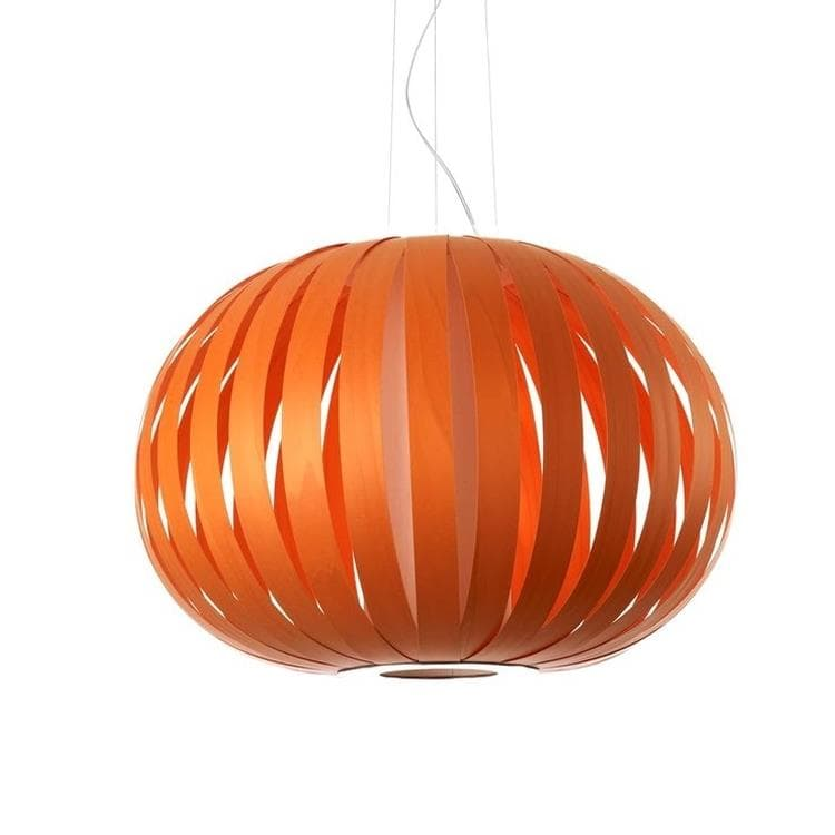 POPPY Orange Suspension Bois Ø63cm