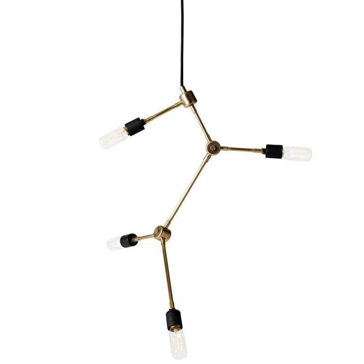 FRANKLIN Laiton Suspension 4 lumières Ø56cm