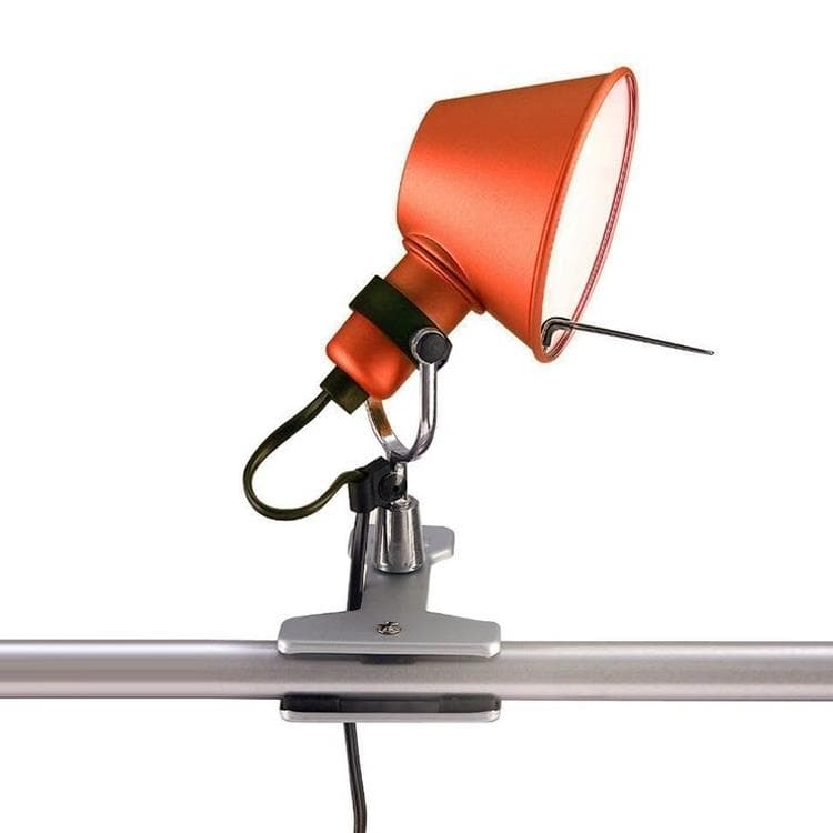 TOLOMEO MICRO Rouge Lampe à pince Orientable H20cm