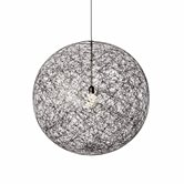 Suspension Moooi RANDOM - Suspension LED Fibre de verre Noir Ø50cm