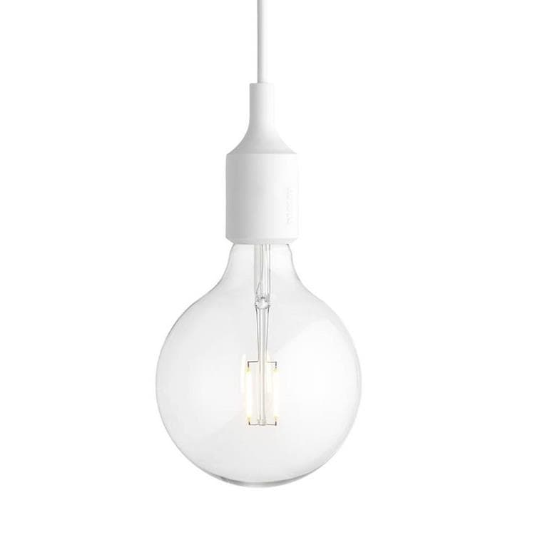 E27 Blanc Suspension avec ampoule LED Ø12,5cm