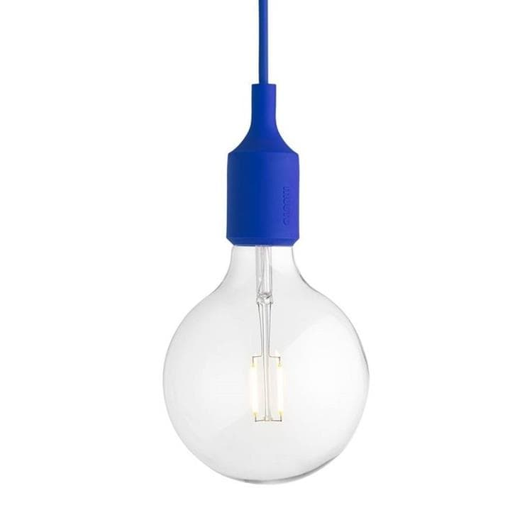 E27 bleu outremer Suspension avec ampoule LED Ø12,5cm