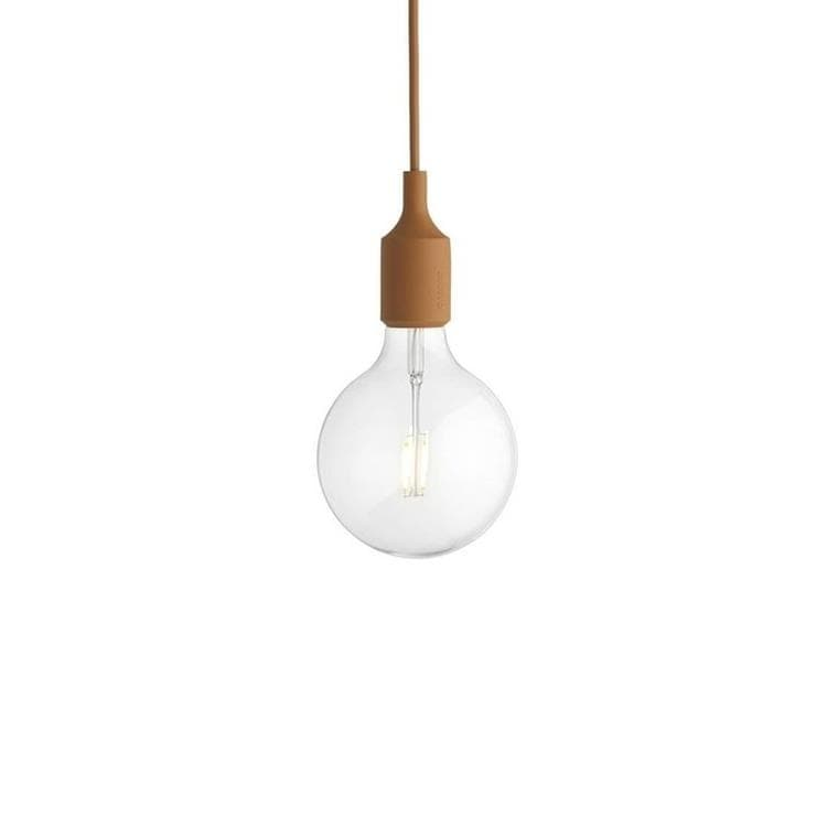 E27 Marron Suspension avec ampoule LED Ø12,5cm