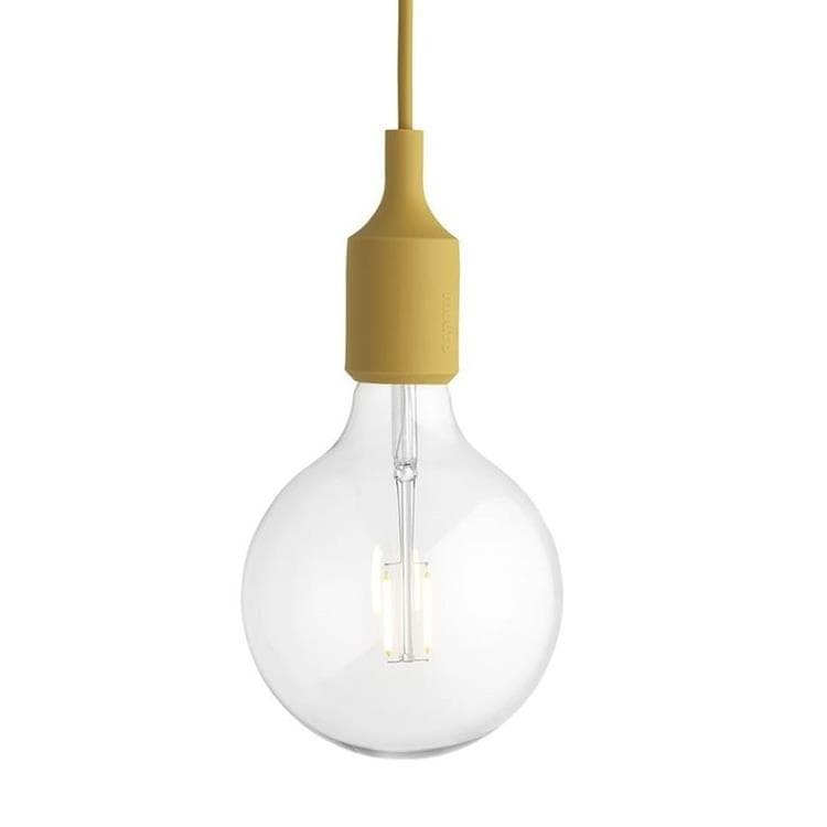 E27 moutarde Suspension avec ampoule LED Ø12,5cm