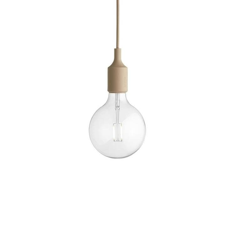 E27 nude Suspension avec ampoule LED Ø12,5cm