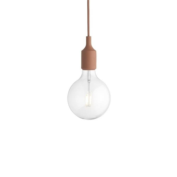 E27 terracotta Suspension avec ampoule LED Ø12,5cm