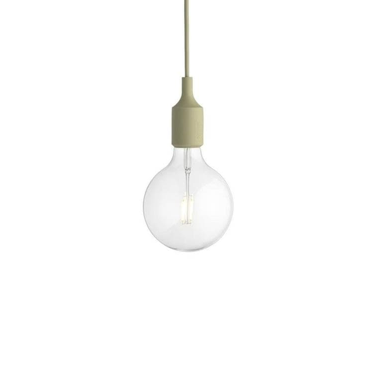 E27 vert galet Suspension avec ampoule LED Ø12,5cm