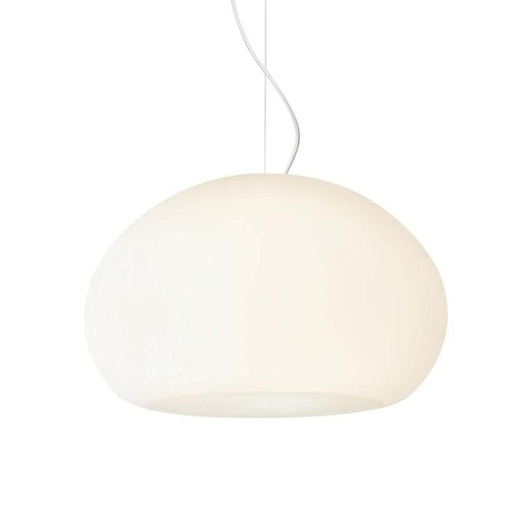 FLUID Blanc Suspension Verre Ø23cm