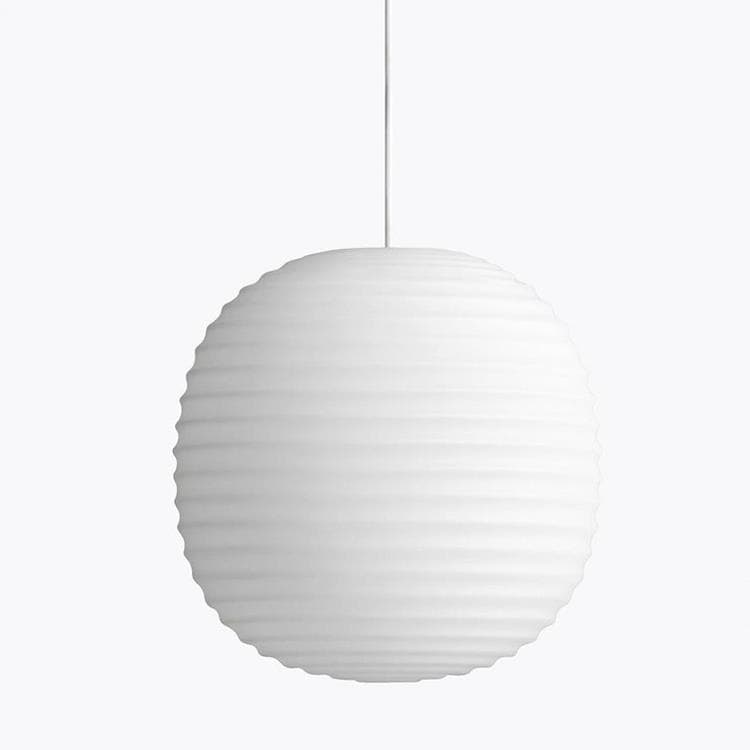 LANTERN Blanc Suspension Verre Ø20cm