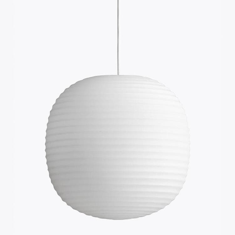 LANTERN Blanc Suspension Verre Ø30cm