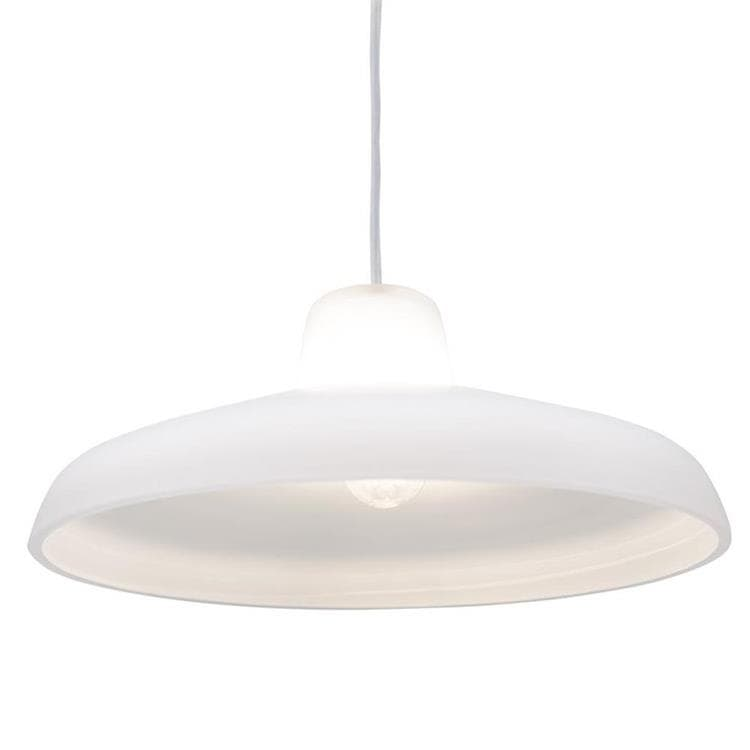EVERGREEN Blanc Suspension Monte/Baisse Verre Soufflé Ø40cm