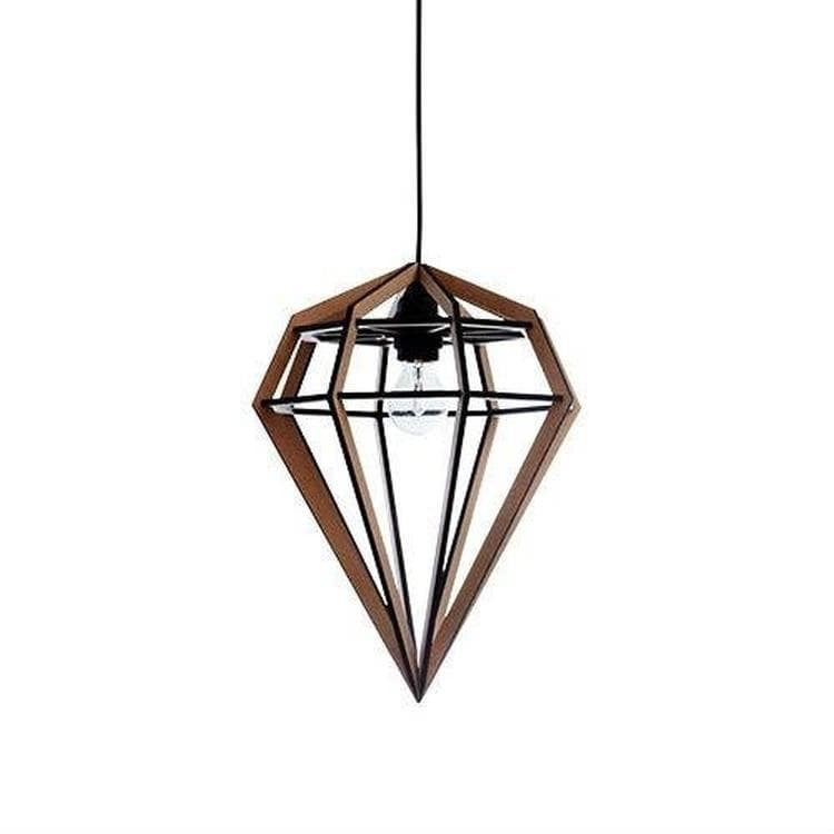 RAW LAMP Marron Suspension MDF/Métal H25cm