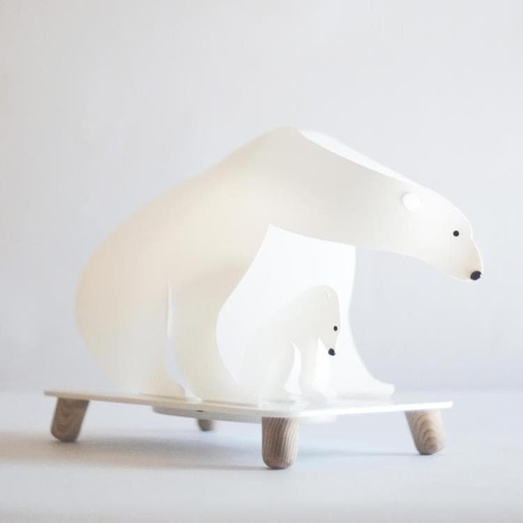 Ours Polaires Lampe A Poser Led Ours H27cm Blanc On Lamp 119 95