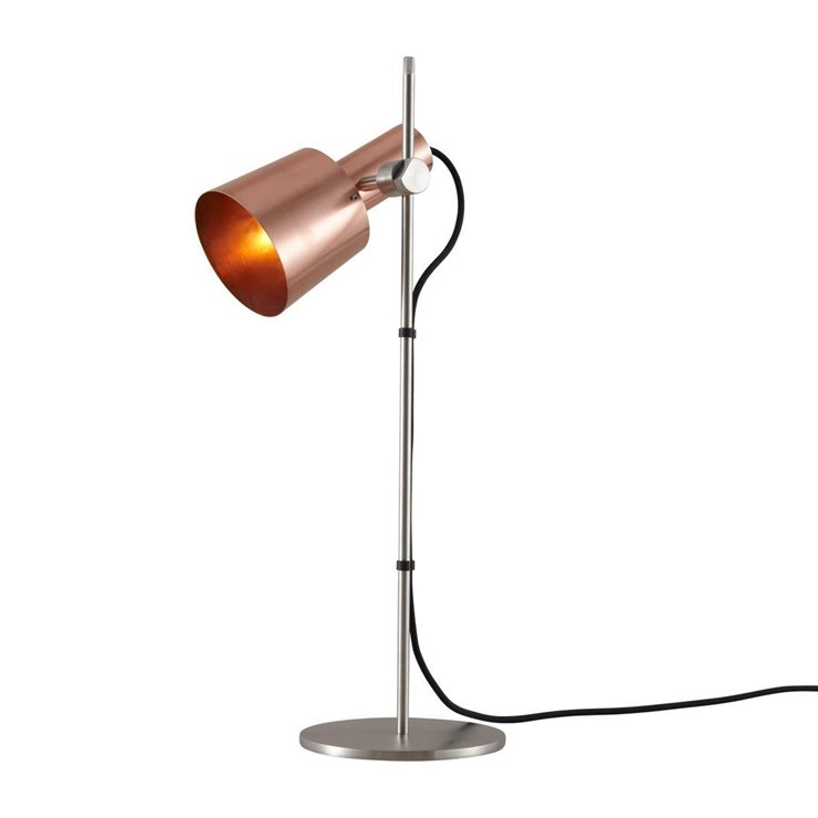 CHESTER Cuivre Lampe à poser Inox H57cm