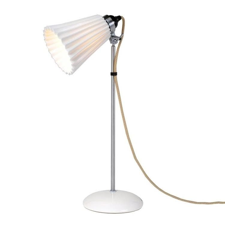 HECTOR PLEAT Blanc Lampe à poser Porcelaine/Chrome H57cm