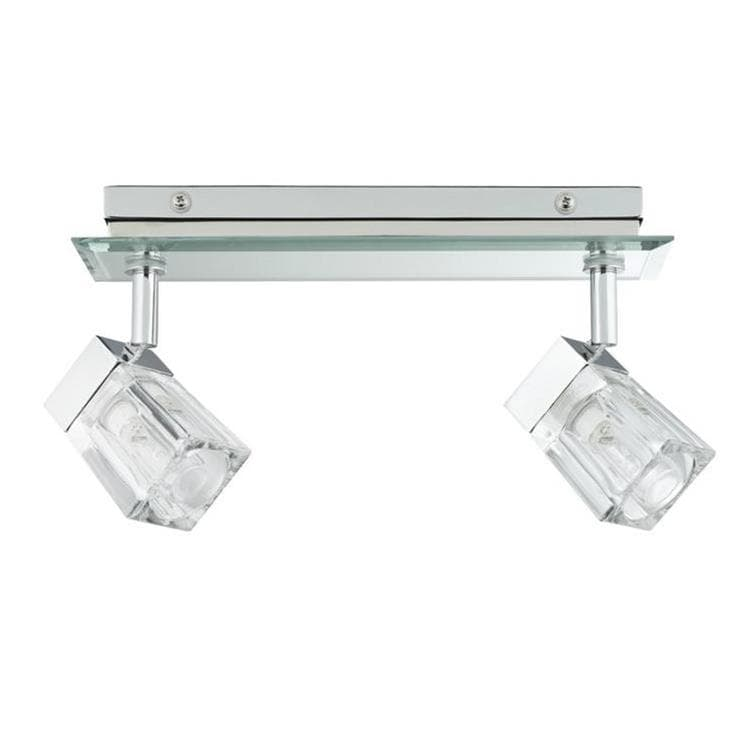 Spot Paulmann - Trabani - Barre De 2 Spots Orientables Verre/chrome L28cm (photo)