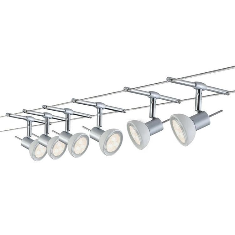 Sheela 6 En L10m Chrome Paulmann Led Spots De Kit Câbles Sur Métal XOiPZuk