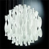 Suspension AXO Light AURA - Lustre Transparent Blanc Ø60cm