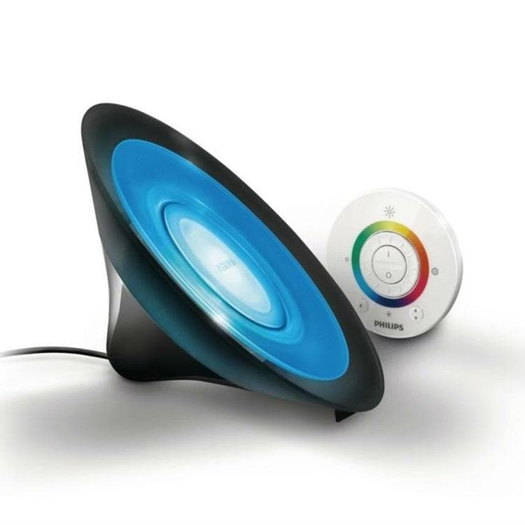 living colors aura lampe dambiance led couleurs changeantes tlcommande noir h15cm philips living colors aura lampe - Lampe Philips Color