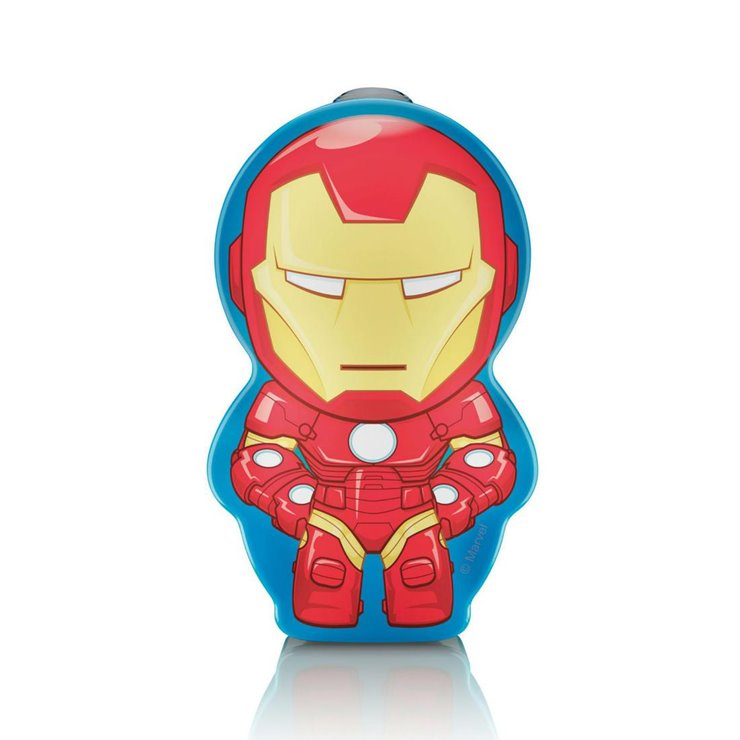 DISNEY iron man Lampe torche à pile LED H9,2cm