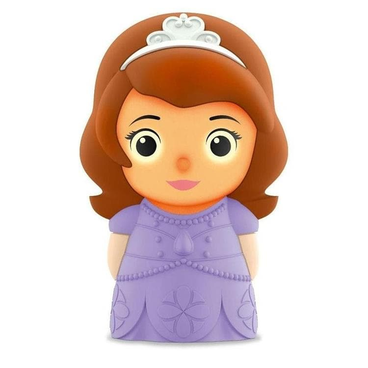 DISNEY Violet Veilleuse portable à pile Softpal LED Princesse Sofia  H12,5cm