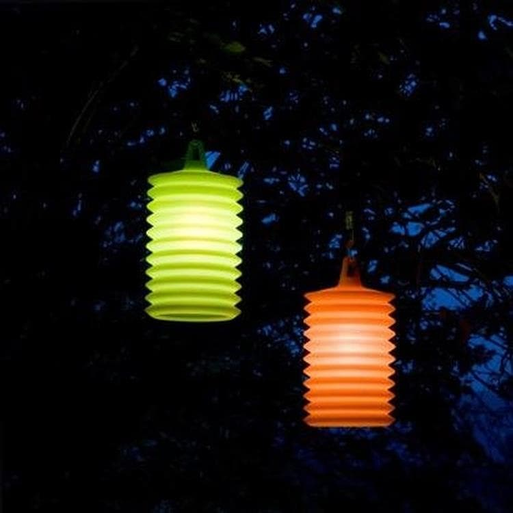 LAMPION Orange Suspension d'extérieur Silicone H27cm