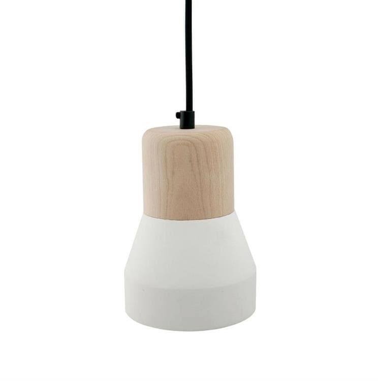 CEMENT WOOD Blanc  Suspension Béton/Bois H18cm