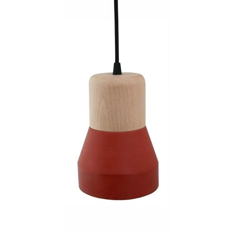 CEMENT WOOD terracotta  Suspension Béton/Bois H18cm