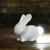 Lampe à poser Suck UK BUNNY LIGHT - Lampe à poser LED Céramique Blanc H23cm