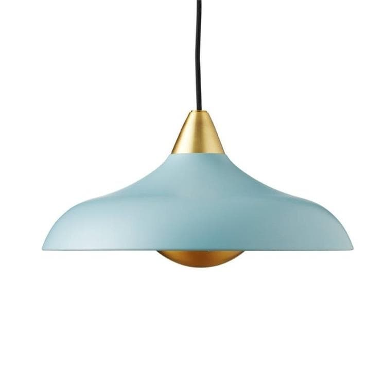 URBAN WIDE PENDANT bleu mat Suspension Métal & Laiton Ø36cm