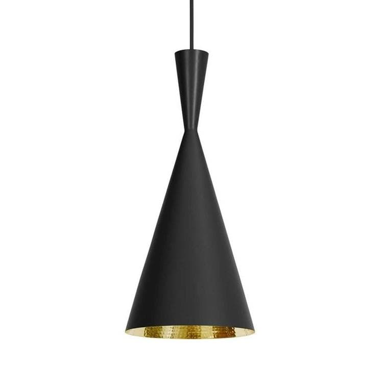 Suspension Noir & Or Ø19cm - BEAT TALL Suspension Tom Dixon Tom ...