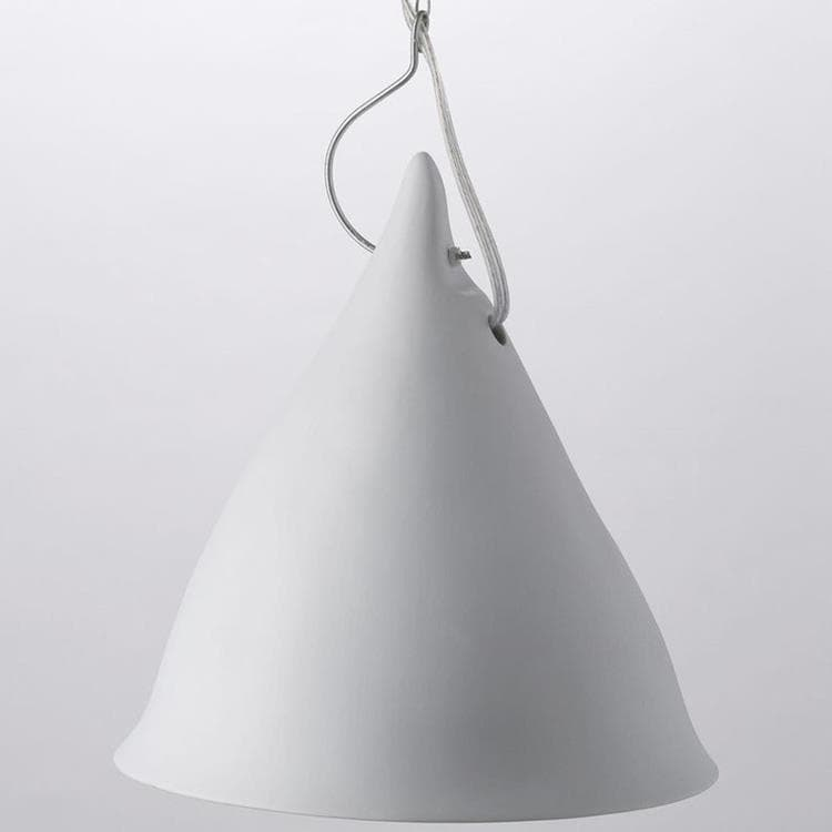 CORNETTE blanc mat Suspension Porcelaine Ø26cm