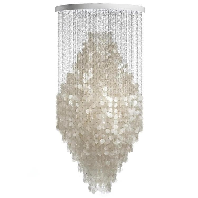 FUN nacre blanc Suspension 3 Lumières H200cm