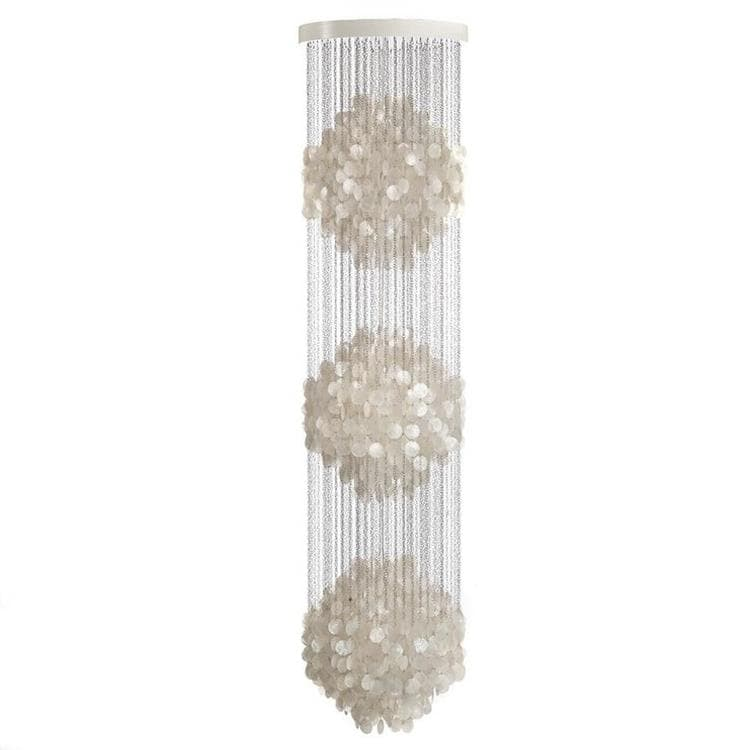 FUN nacre blanc Suspension 3 sphères Ø56cm