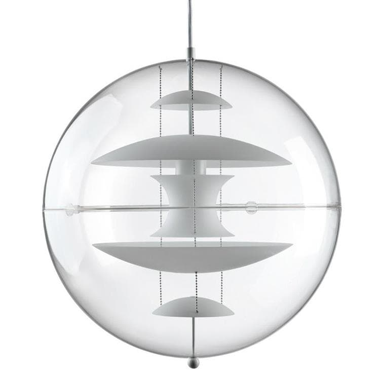 VP GLOBE verre blanc Suspension Boule Ø50cm