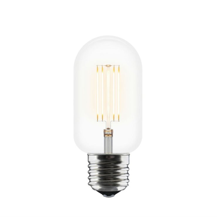 IDEA  Ampoule à filament LED Tube E27 Ø4,5cm 2200K 2W=10W 140 Lumens