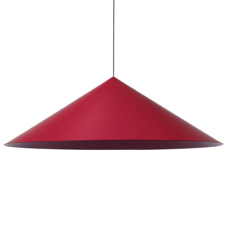 CKR Rouge Pourpre Suspension LED conique Ø135cm