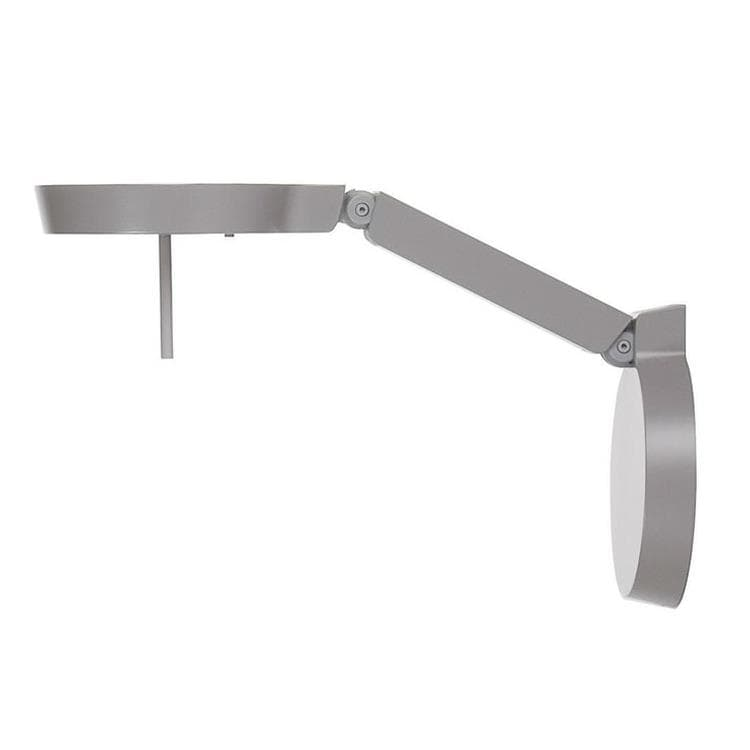 CKR W081W gris Applique murale LED Métal Orientable L41cm