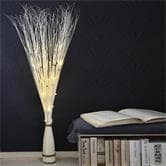 Lampe à poser Xmas Living Glass WILLOW CONE - Branches lumineuses Saule Blanc H120cm