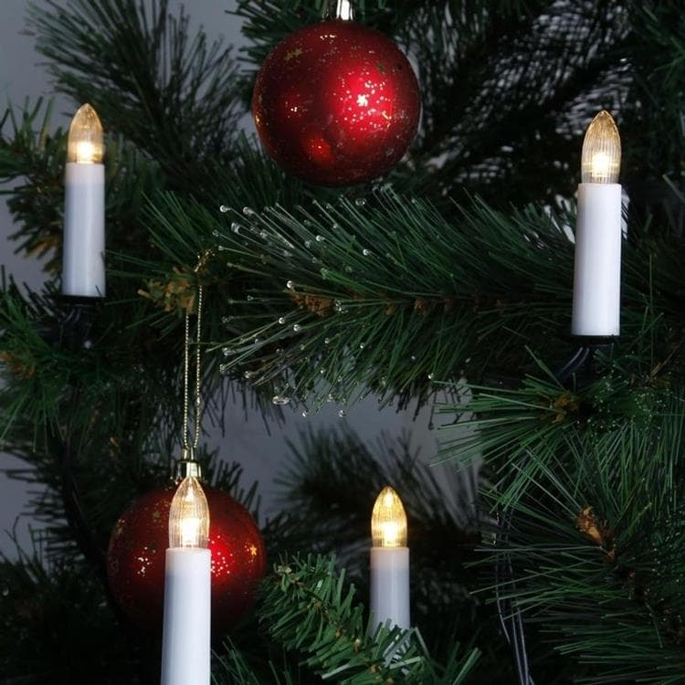 Guirlande et objet lumineux Xmas Living Glass - Double Wire - Guirlande 16 Bougies Lumineuses à Pince 12m (photo)