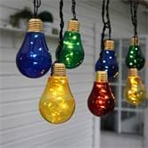 Luminaire à LED Xmas Living Glass GLOW - Guirlande ampoules 10 LED Multicolore L5m